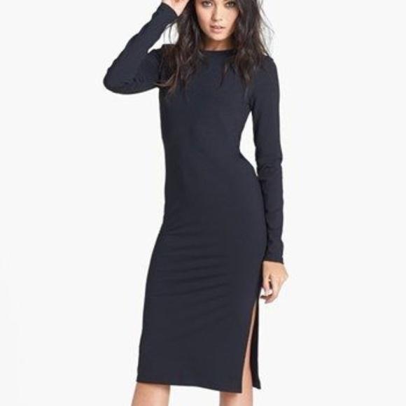 634809f1b963 Leith Dresses   Skirts - Leith black long sleeve knit midi dress